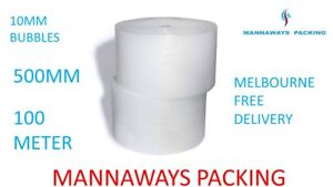 Bubble Cushioning Wrap ,Bubble wrap Clear 500mm x 100M  Melbourne free Delivery