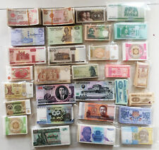 FreeS/H worldwide 30 different Banknotes Lot ( not coins )15 Countries Most UNC