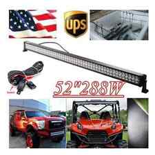 50 inch 288W Straight LED Light BAR WORK LIGHTS 4WD OFFROAD DRIVING LAMP JEEP 52