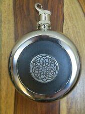 NEW Irish Slainte Drinking Flask silver Robert Emmet Celtic Swirl Knot GIFT