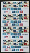 U.S. Used #4313 - 4322 44c Forever Flags of Our Nation Set 4 First Day Covers