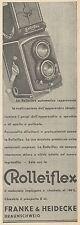 Z3091 Apparecchio Fotografico ROLLEIFLEX - Pubblicità - 1933 old advertising