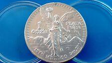 MONEDA DE PLATA MEXICO LIBERTAD 1 ONZA DE PLATA PURA  0.999/1000 AÑO 1986.