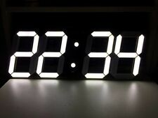 Big 3D Digital LED Wall Clock, Modern Design Timer, Alarm Clock, Remote Control