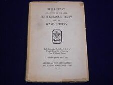 1935 SETH SPRAGUE TERRY & WARD TERRY ANDERSON GALLERY AUCTION BOOK - KD 2974