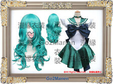 Costume+Wig B5#Super Sailor Moon Cosplay Costume Kaiou Michiru Sailor neptune