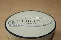 GENUINE LINKS OF LONDON 925 STERLING SILVER 18 CM T BAR CHARM BRACELET - BNIB