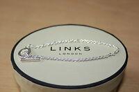 GENUINE LINKS OF LONDON STERLING SILVER 18 CM T BAR CHARM BRACELET - GIFT BOXED