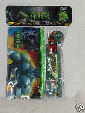 NEW IN PACKAGE INCREDIBLE HULK 5 PC STUDY KIT, PENCIL CASE, ERASER,RULER