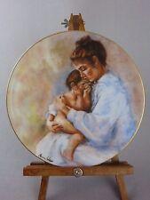 Limoges France Porcelain Plate / Laura & Child Marian Carlsen Mother's Day 1975