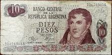 Banco Central De la Republica Argentina 10 Pesos Bank Note 1970