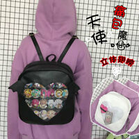 Lolita Backpack Angel Devil Wings Kawaii Girl Transparent Heart Shape School Bag