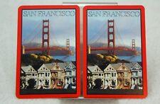 Single Swap Playing Cards. Vintage SAN FRANCISCO SCENERY. 1990s (2 Single)