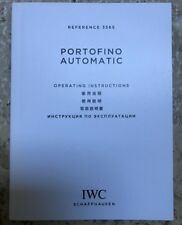 IWC International Watch Co. Portofino Autom Ref 3565 Operating Instructions Book