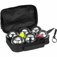 GETGO Set 6 boules de pétanque acier chromé