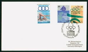 MayfairStamps Greece 1992 Combo 3 Athens - Barcelona Cover wwp80663