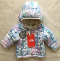 THE NORTH FACE Girls Mossbud Swirl Reversible Insulated Jacket NWT 0-3 MONTHS