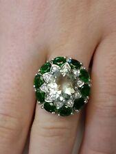 *Sterling Silver Multi-Gem Ring Size 7.75*