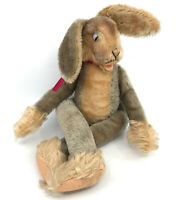 Steiff Lulac Floppy Rabbit Jointed 43cm 17in Mohair Plush ID Button 1960s Vtg