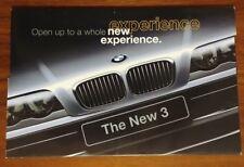BMW BROCHURE 1999 3 SERIES E46 323i 328i FOLDOUT COLLECTIBLE ADVERTISING SEDAN