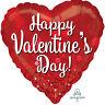 Grand Joyeux Saint Valentin Super Forme Cœur Ballon Fête Scintillant Détail