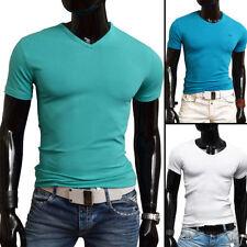 Unbranded V Neck Short Sleeve Basic T-Shirts for Men