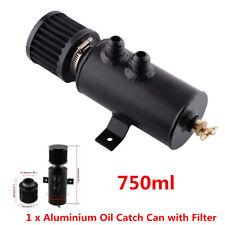 Black 2x AN10 Aluminum Oil Catch Can Reservoir Tank W/ Breather Filter Baffled