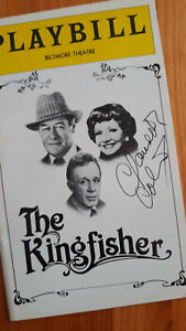 The Kingfisher Playbill Boldly Signed by Claudette Colbert