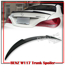 Painted Mercedes BENZ CLA W117 CLA220 14-18 V Style Trunk Boot Spoiler