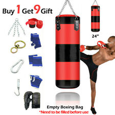 New Empty Heavy Boxing Punching Bag Training Glove Speed Set Kicking Mma Workout