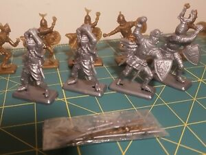 Crusader Knights x 4 Saracens x 6 Figures Untainted
