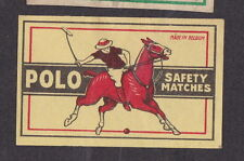 ancienne étiquette allumettes  Belgique  BN15624 Polo Cheval