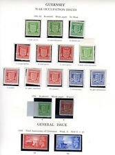 Guernsey War Occupation Issues With Shade Varieties Mnh