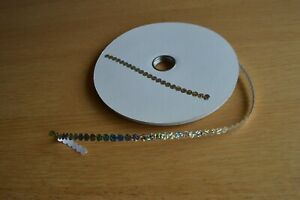 Silver Self Adhesive Sequins 10 metres from the reel