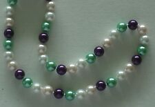 """10MM Multicolor #74 AAA South Sea Shell Pearl Necklace 18"""" NEW (with gift bag)"""