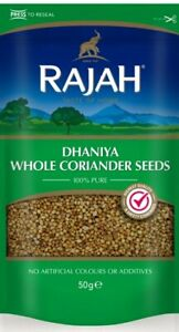 Whole Coriander Seeds Dhaniya Seeds Rajah Finest Quality 50g Free Delivery