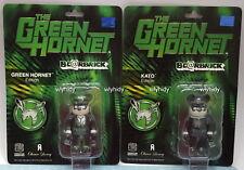 Green Hornet Bearbrick 100%  Kato & Green Hornet Edition  2pcs  Medicom RARE ,h#