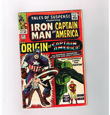 TALES OF SUSPENSE #63 Captain America's origin re-told in this Silver Age find!