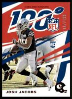 2019 Chronicles Base NFL 100 Red #74 Josh Jacobs /199 - Oakland Raiders