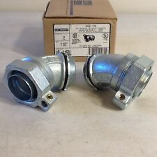 "O-Z/Gedney 1-1/2"" Ground Tite 45 Grounding Liquidtight Connector 4Q-4150L lot of"