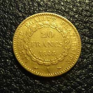 France 20 francs 1848A gold 90% (6.45 g) VF