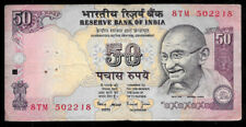 World Paper Money - India 50 Rupees Nd 1997 P90a @ Fine Punched