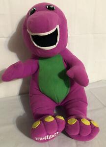 Vtg 1992 Playskool Lyons Singing Talking Barney Plush Doll #71245 Tested.