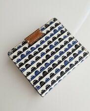 FOSSIL NWT SL7196469 Emma Mini Wallet BLUE PRINT Coin Wallet Bifold