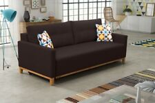 Brand New Modern Fabric Sofa Bed / Couch ARYIL - Storage Box + Sleeping Function