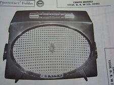 Zenith Collectible Radio Manuals For Sale Ebay. Zenith Y513f Y513g Y513r Y513w Radio Photofact. Wiring. Zenith 5g03 Wiring Diagram At Scoala.co