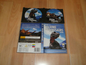 WALKING WHIT DINOSAURS TWO DISC DVD ZONE 2-4 ONLY IN ENGLISH IN GOOD CONDITION