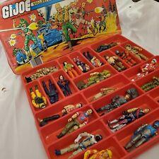 GI Joe Lot- ARAH Vintage Collectors Case Plus 24 Action Figures & Accessories