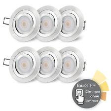 6er Set RF-2 LED Einbauspot schwenkbar inkl.  fourSTEP Modul 5W neutralweiß