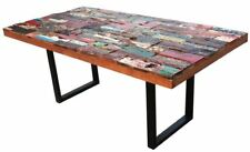 Rectangular Dining Table Made From Recycled Boats by Chic Teak